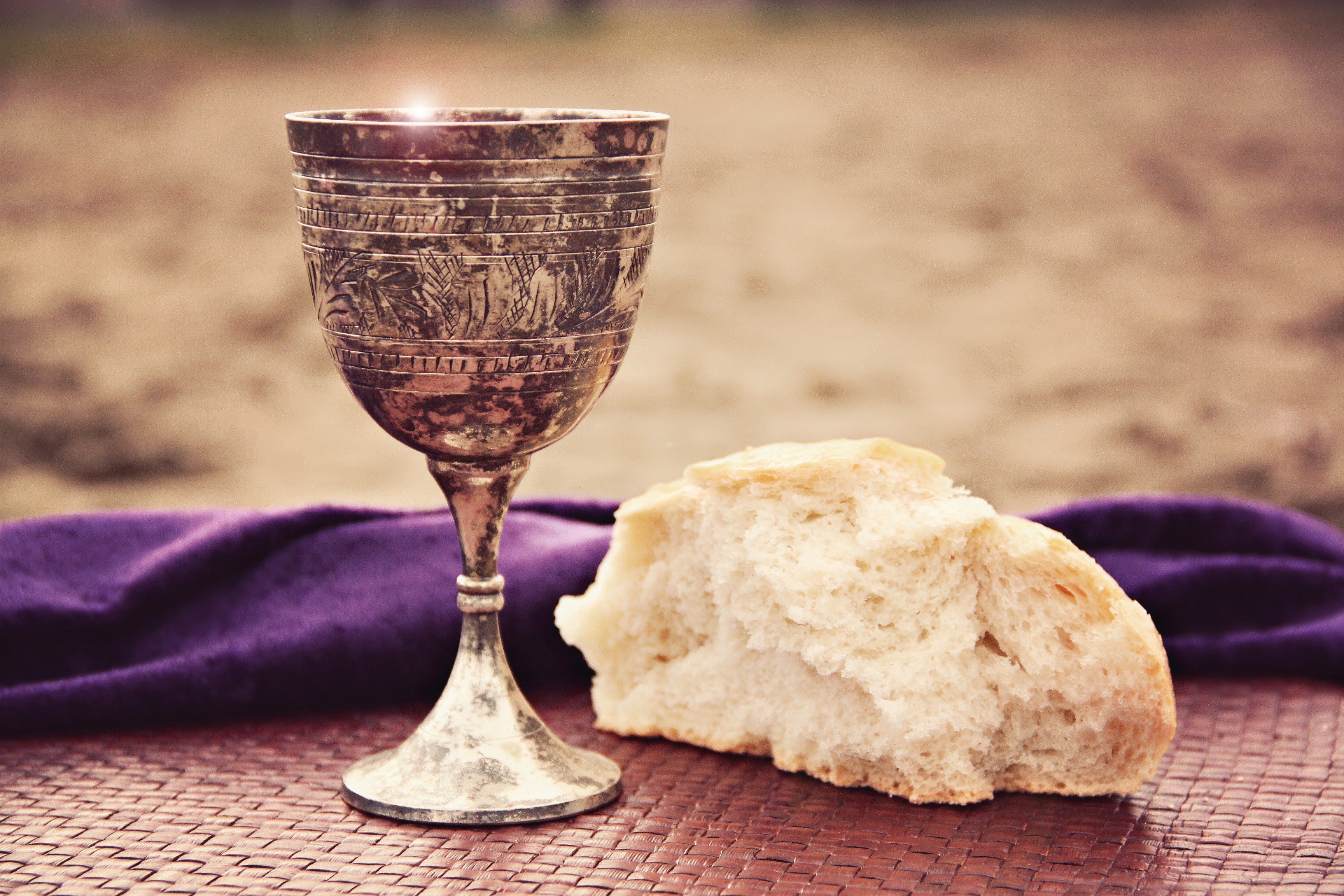 Lord's Supper Church Stock Photos
